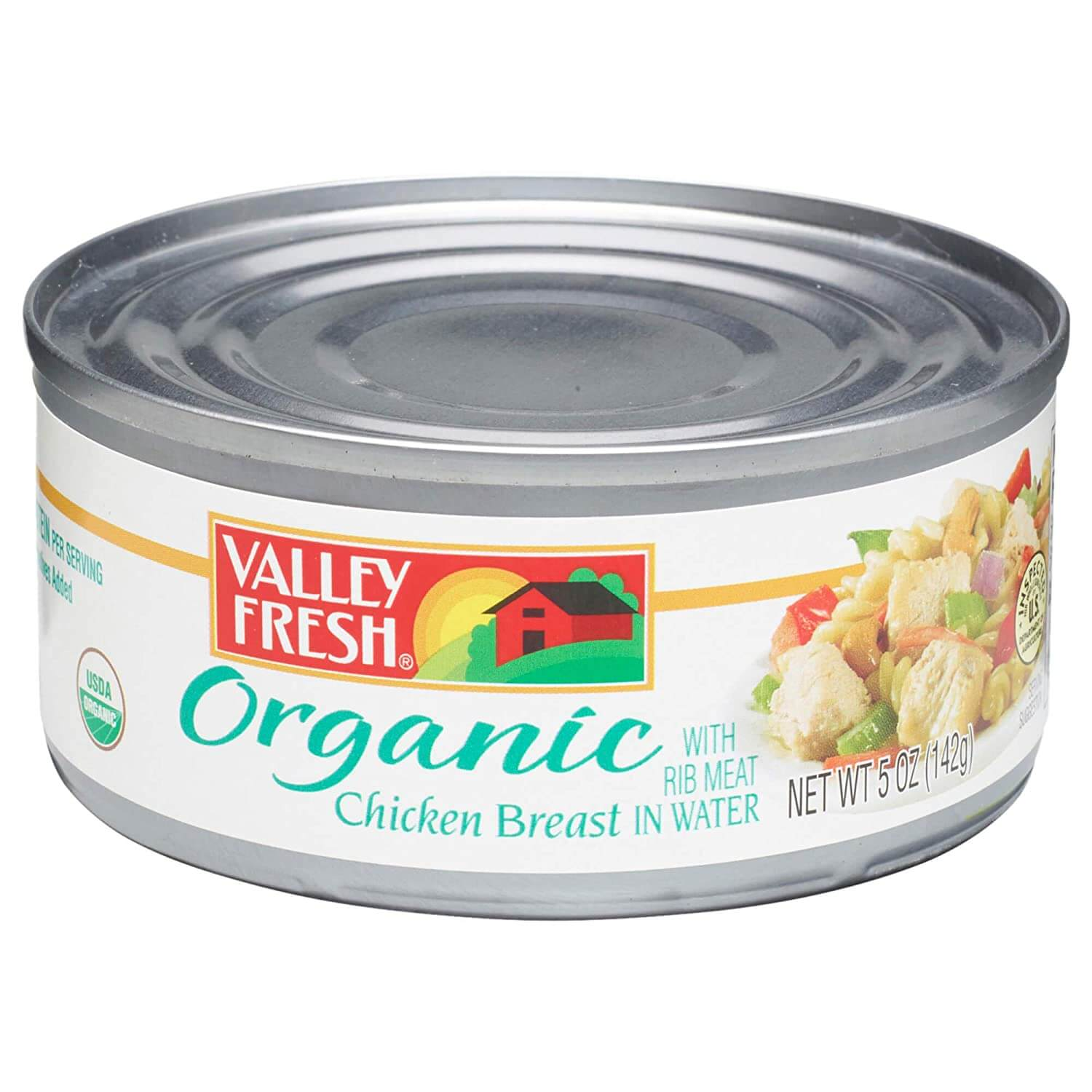 Valley Fresh Organic Canned Chicken Breast with Rib Meat in Water
