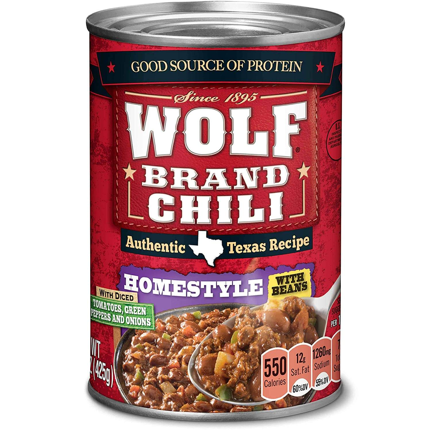 Wolf Brand Homestyle Chili with Beans