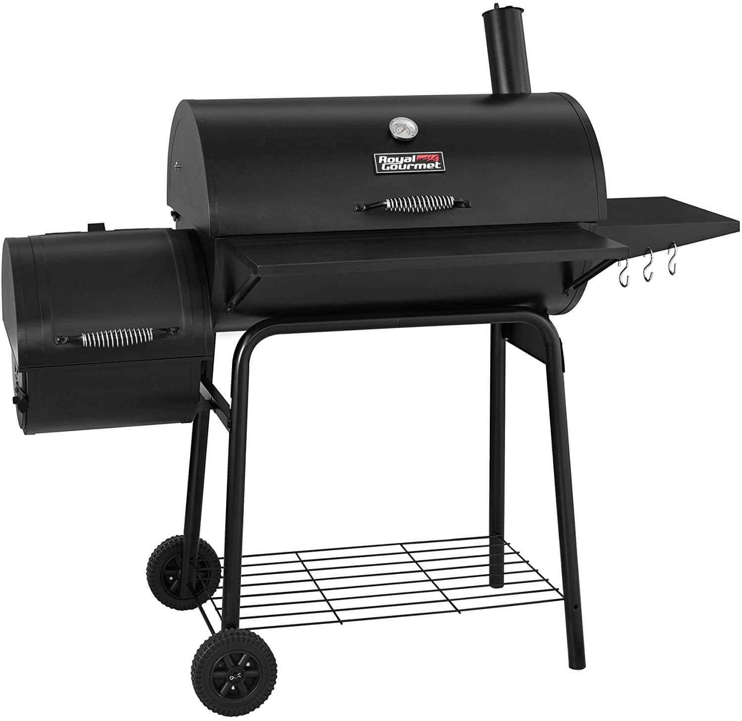 Royal Gourmet 30 BBQ Charcoal Grill and Offset Smoker