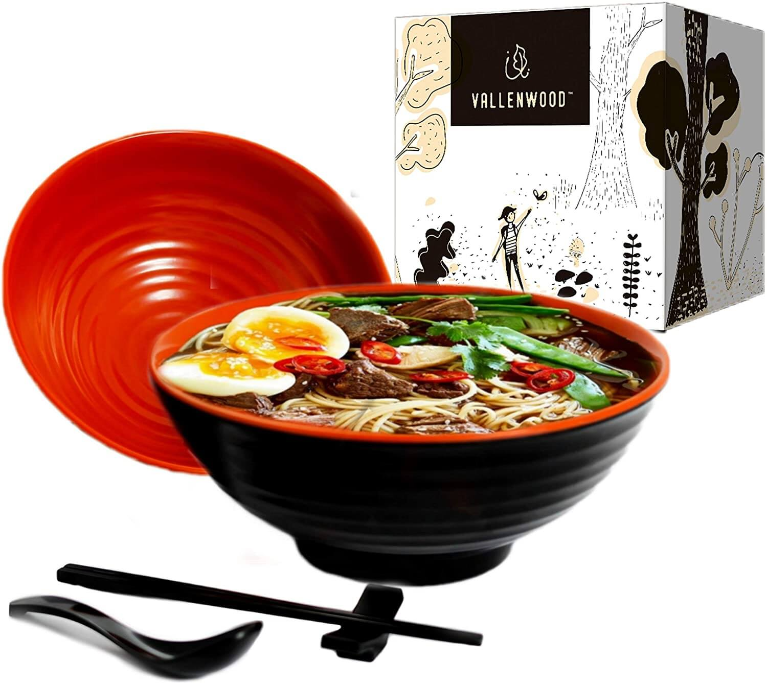 Vallenwood Melamine Ramen Bowl