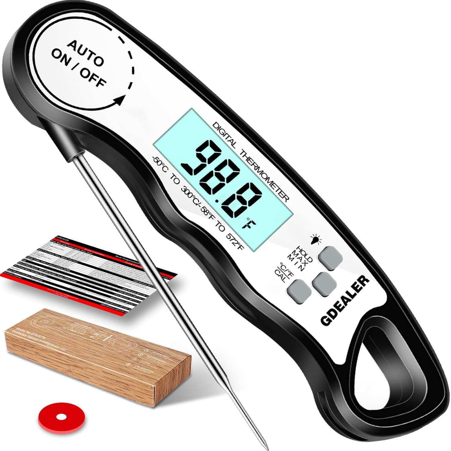 GDEALER DT6 Instant Read Meat Thermometer
