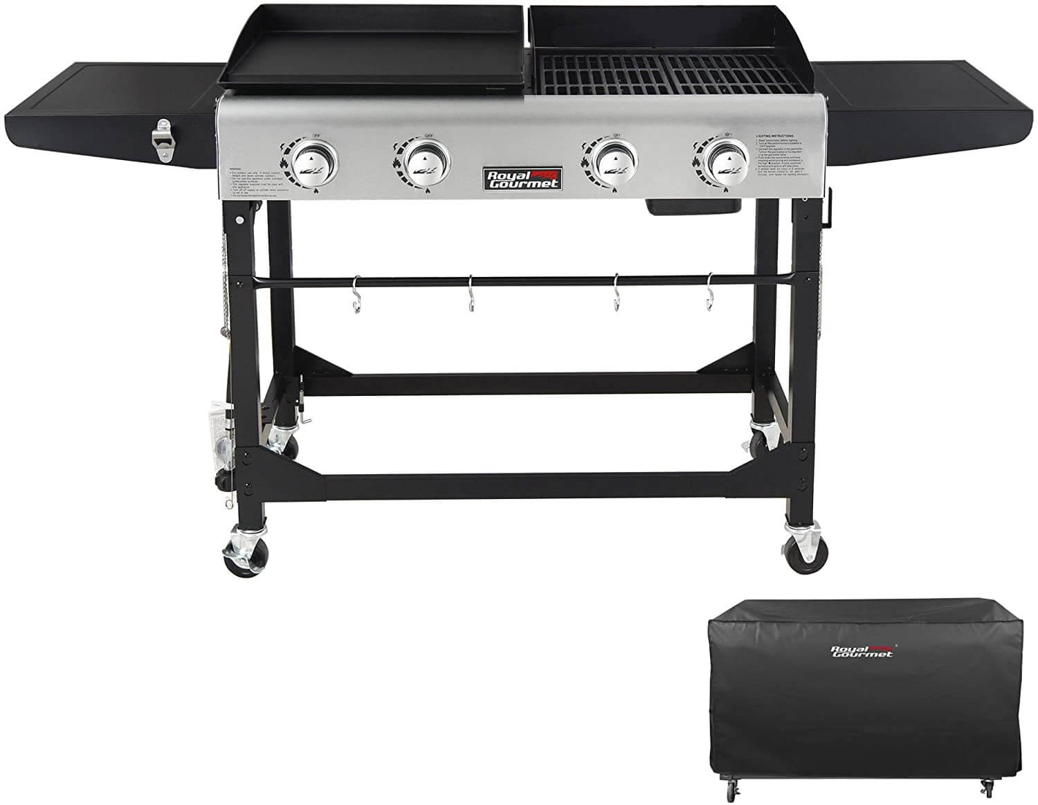 Royal Gourmet GD401C Portable Propane Flat Top Gas Grill